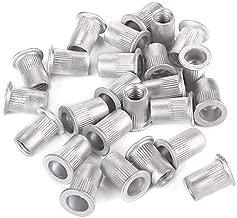 Aluminum Flat Head M8 Rivet Nut Rivnut Insert Nutsert 8mm (Pack of 25)
