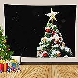 Kihomedy - Tapiz de pared vertical para dormitorio, árbol de Navidad 2020, diseño de abuelo, 240 x 220 cm