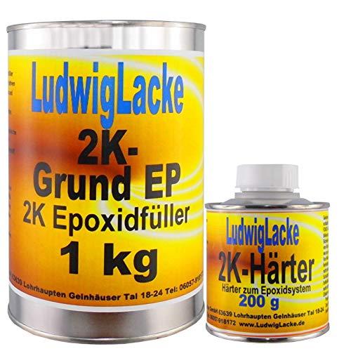 Epoxid 1,2 kg EP Grundierung grau Füller für Autolack Werkstatt