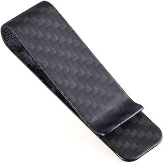 (TM) Carbon Fiber Matte Money Clip Credit Card Holder Business S