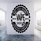 ModerneBoutique Stickers Muraux Papier Peint Magasin Fenêtre Décoration Murale Cigarette...