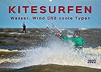 Kitesurfen - Wasser, Wind und coole Typen (Wandkalender 2022 DIN A2 quer): Kitesurfing, ultimativer Funsport mit vielen begeisterten Anhaengern. (Monatskalender, 14 Seiten )