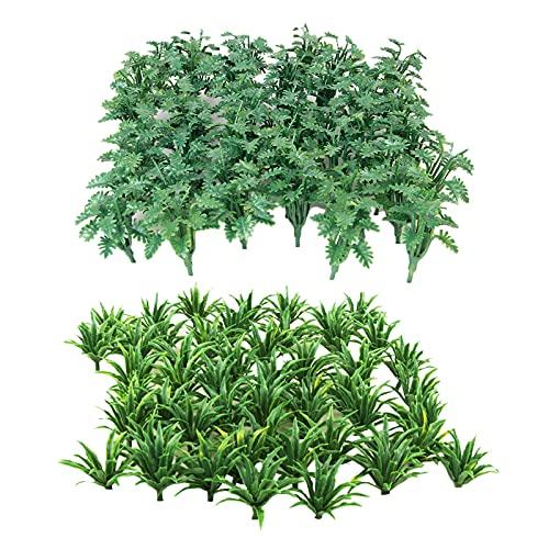 Perfeclan 100 Pz Paesaggio Verde Paesaggio Modello Erba Diorama Layout 2 Tipi