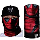 Fast Mask Tubular Face Mask, Tubular Bandana Deadpool Design, Breathable Fabric, 100% Polyester Microfiber Face Protection with SPF 40 for Men and Women