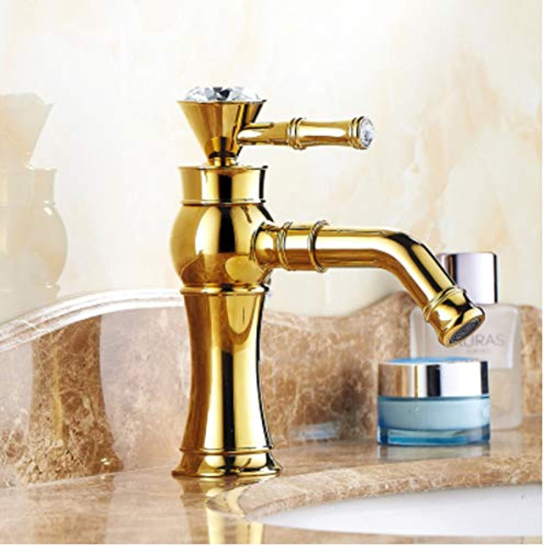 ROKTONG Faucet Copper European Antique Faucet Retro Faucet Bathroom Faucet Basin Faucet Paint Faucet 360 Degrees, D