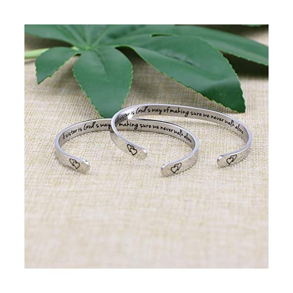 Joycuff Bracelets for Women Funny Inspirational Gifts for Her Sister to Sister Jewelry Mantra Cuff Bangle