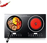 Portable Double Induction Cooktop, Portable Electric Dual Induction Cooker Cooktop Countertop...