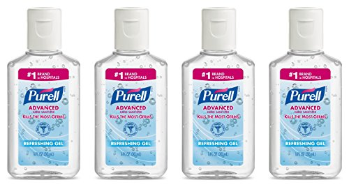 4 Pack 1 oz, Purell Advanced Hand Sanitizer Gel Travel Size -$9.99(30% Off)