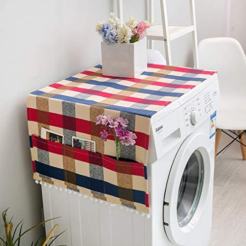 Durable Persenning Staubdicht Sonnenschutz Roller Waschmaschine Abdeckung Tablecloth rutschfest (Color : Multi-Colored, Size : 70 * 170)
