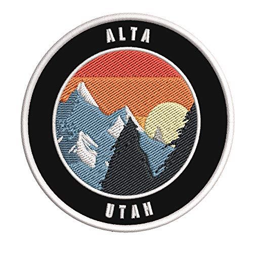 Alta, Utah Ski Restort Mountain Embroidered Premium Patch DIY Iron-on or...