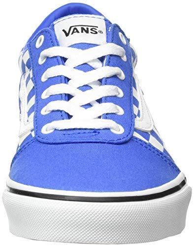 Vans Ward Canvas, Scarpe da Ginnastica, Scacchiera Nebulas Blu Bianco, 35 EU