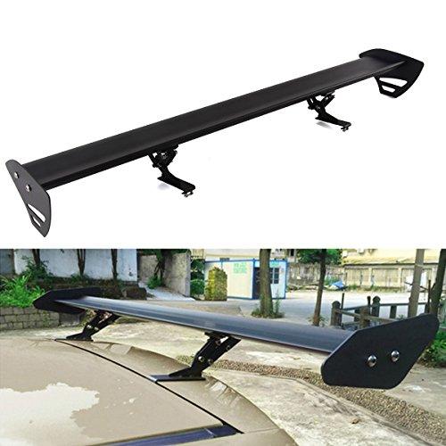 NEVERLANDリアウイングスポイラー 汎用ハッチバック用 110cm 調整可能 アルミ製GT 穴あけ加工不要 ブラック