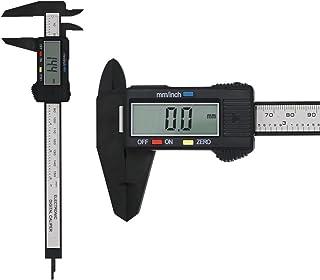 Peetoko デジタルノギス 外径/内径/段差/深さ測定 LCDディスプレイ 高精度 0.1 ~ 150mm ゼロリセット ホールド機能 ノギス コンパクト DIY 大工 電池付