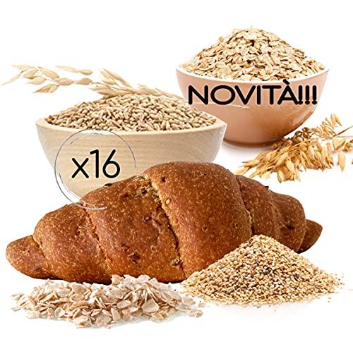 NOVITA'! 16 BRIOCHE Iperproteiche con CEREALI Line@, gusto neutro con cereali e semi, 50 grammi e 20% PROTEINE