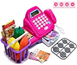 Chocozone Battery Operated Cash Register Toy for Boys and Girls Pretend Play Toy with Calculator,...