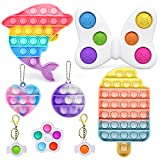 AYGXU-Fidget Toys , Fidget Pack,Pop Bubble Sensory Fidget Toy, Simple dimple Toy ,Squeeze Sensory Toy, Silicone Stress Reliever Toy, Autism Special Needs Stress Reliever.