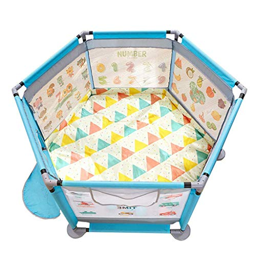 playpens for toddlers, 124x66cm Tents Infant Puzzle Playpens with Dual-use Mat (Cold/Warm) for Summer and Winter Nursery Furniture Activity Play Area Fence