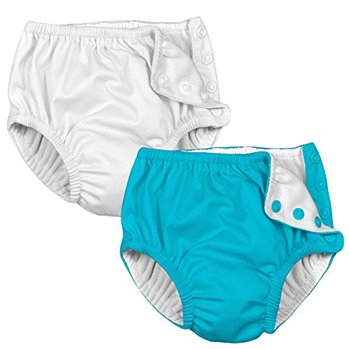 i Play 2 Pack Absorbent Unisex Reusable Baby Swim Diapers White and...