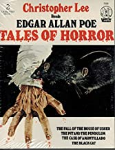 TALES OF HORROR (BY EDGAR ALLAN POE)(FOUR STORIES--READ BY CHRISTOPHER LEE) (NOT A CD!) (2-CASSETTE AUDIOTAPE ABRIDGED AUDIOBOOK) 1979 MUSIC FOR PLEASURE LTD./ LISTEN FOR PLEASURE #LFP 7039 (LISTEN FOR PLEASURE, LFP7039)
