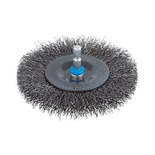 Wolfcraft wire wheel brush Ø 100 x 10 mm, hexagon shank 1/4'' (6.35 mm), 2102000'