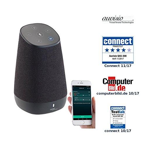 auvisio W LAN Lautsprecher: Mobiler WLAN-Multiroom-Lautsprecher mit Amazon Alexa und Akku, 30 Watt (Alexa Box)
