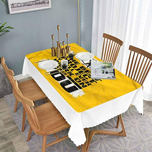 "W 27.5"" x L 47"" Rectangular Tablecloth Small Tablecloth Fitness,Best Project is You,Waterproof and Leak-Proof Polyester Fabric Table Cover for Kitchen Table Decoration"