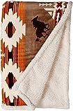 Carstens JP523 Soft Sherpa Plush Throw Blanket, Free Rein Colleciton, 54' x 68'