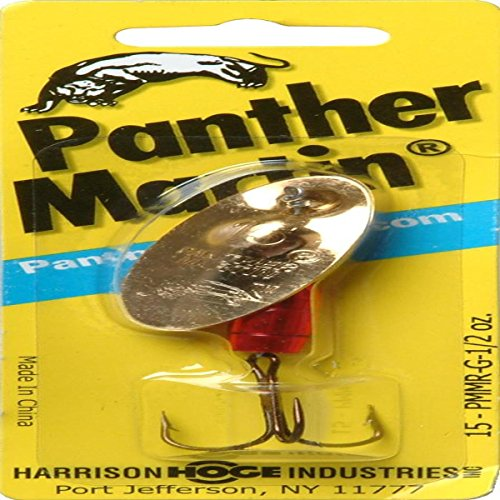 Panther Martin Fishing Lure Spinner, Gold and Red,...