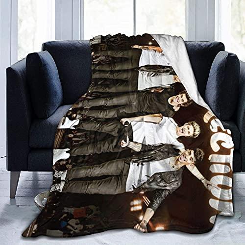 One Dire-ction Con - Manta de forro polar cálida para aire acondicionado, ropa de cama decorativa duradera anime novedad mantas de gran tamaño 80 pulgadas x60