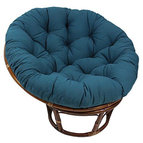 "Blazing Needles Solid Twill Papasan Chair Cushion, 44"" x 6"" x 44"", Indigo"