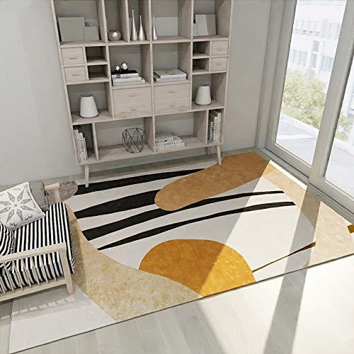 Michance Alfombra geométrica Simple de Estilo Europeo, Alfombrilla Acolchada Antideslizante, Adecuada para Dormitorio, Sala de Estar, baño, sofá, Alfombra
