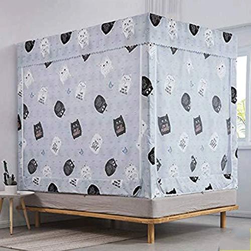 Dmsc 1,5 m 1,8 m Cama del hogar 2m Mosquitera Anti-caída de una Puerta 2.2 1.2 Soporte Grueso del Nuevo patrón (Color : Cat 2, Size : 1.8 Meters (6 Feet))