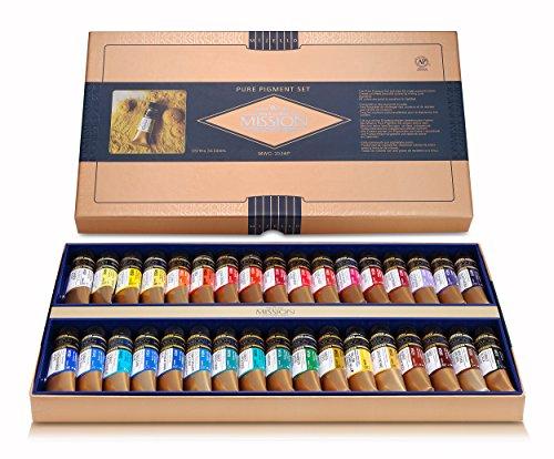 Mijello Mission Gold Class Pure Pigment Water Color MWC-1534P, 15ml 34 Colors