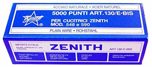 ZENITH 130/E bis punti metallici passo 6/4  sc.da 5000 punti
