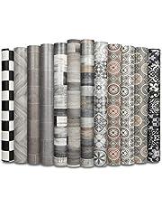 CV vloerbedekking PLAZA - extra slijtvaste PVC vloerbedekking (geschuimd) - Lagos 761M - elegante tegellook - oppervlak gestructureerd - metergoed (100x400 cm)