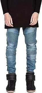 LUKEEXIN Men Jeans Biker Jeans Fashion Hiphop Skinny Jeans for Men Streetwear Stretch Slim Pants
