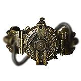 Wan&ya Steampunk Men Watch Retro Industriale di Colore del Bronzo del Quarzo Creativo di personalità Dial Orologi per Halloween di Natale di Cosplay del Partito di Travestimento