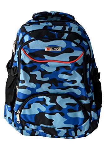 Military Camouflage Rucksack Daypack Sportrucksack Wanderrucksack Notebook Backpack Schulrucksack (Blau)