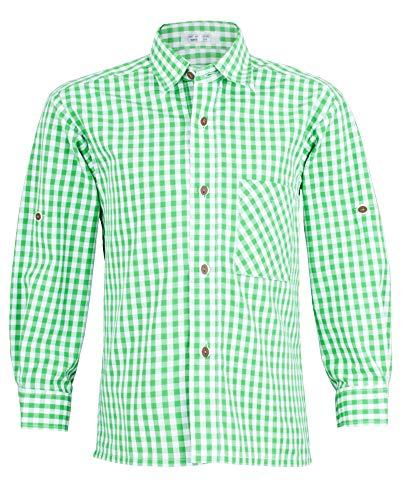 Isar-Trachten Isar-Trachten Kinder Trachtenhemd Moritz - Grün Gr. 116