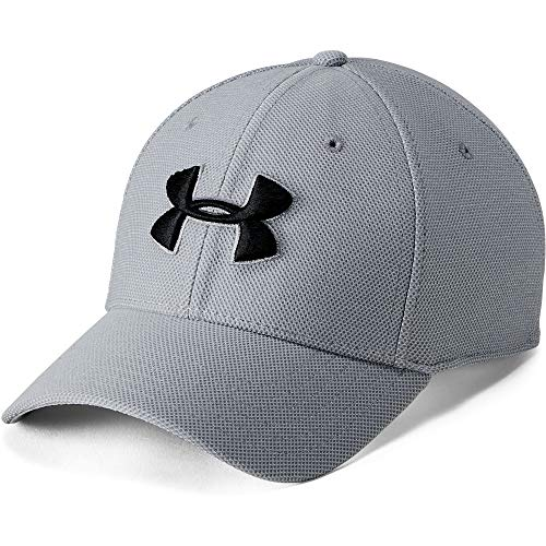 Under Armour UA Mens Heathered Blitzing 3.0 Gorra, Hombre, Gris, M/L