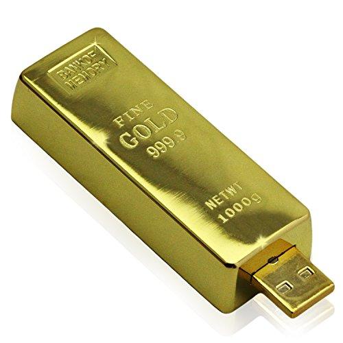 Oramics Oramics -WELTNEUHEIT- Designer Goldbarren USB Feuerzeug: Glühspirale, benötigt kein Gas und kein Benzin, Wird durch USB aufgeladen in Gold Gold