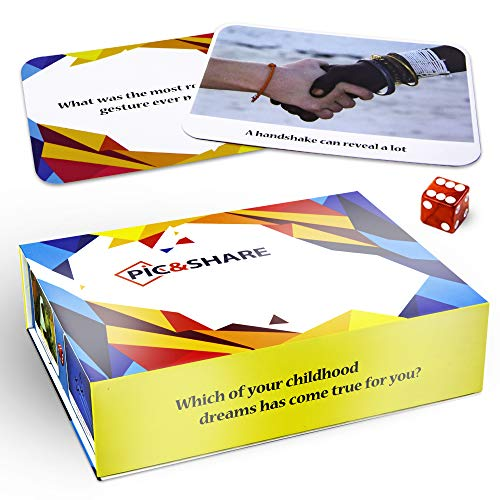 PIC&SHARE - Fun, Entertaining, Thought-Provoking Game for Meaningful Communication with Family, Friends, Couples, Team Building, Therapy Counselors and More - 2 or More Players