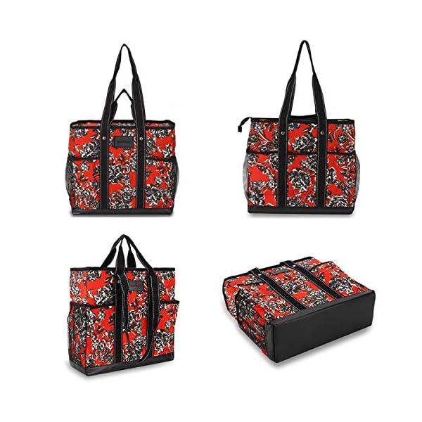 Canvas Tote Shopping Bag,Utility Teacher Nurse Organizer Handbag Bag DEMOMENT