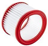 Nilfisk 107417194 Filterelement Filtro para Aspirador de Bricolaje Multi II, 0 W, 0 V, Blanco/Rojo