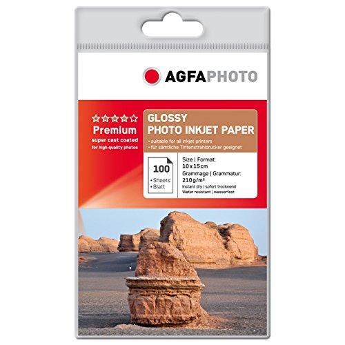 AgfaPhoto AP210100A6 - Papel fotográfico (260 ± 15 µm, 45...