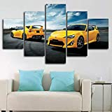 Gxucoa Leinwandbilder 5 Stück Poster Leinwand Toyota 86