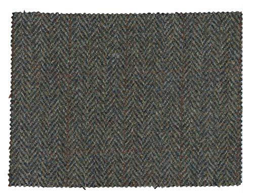 Walker and Hawkes - Harris-Tweed-Stoff - 100% echte Schurwolle - Dunkelgrau - 0.5m (50 x 150cm)