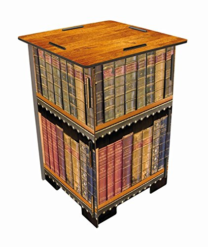 Werkhaus Photohocker 29,5 x 29,5 x 42 cm Motiv antike Bücher Hocker, MDF, bunt, 29.5 x 29.5 x 42 cm