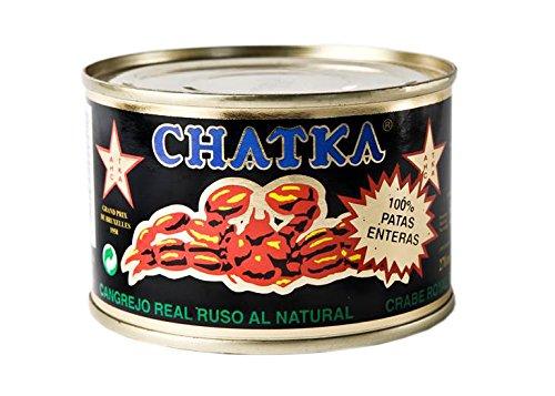 Chatka - Cangrejo real ruso, 100{835ff2765e7559e5d2846c621cbe9bceaf50c844bd52be813e90c2ef2775d833} patas enteras, 220 ml