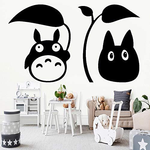 WERWN Pegatinas de Pared mi Vecino Totoro Pegatinas de Anime japonés Dormitorio de niños decoración de habitación de Pimienta Arte de Pared de Dibujos Animados decoración de guardería